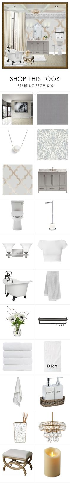 """""""Simple Elegance"""" by fowlerteetee ❤ liked on Polyvore featuring interior, interiors, interior design, home, home decor, interior decorating, Ready2hangart, Brewster Home Fashions, Chan Luu and White Label"""