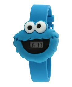 Take a look at this Blue Cookie Monster Face LCD Watch by Sesame Street on   d6b58424fbd3