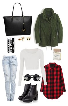 """""""❤️"""" by julischek on Polyvore featuring moda, J.Crew, Michael Kors, Bella Freud i CellPowerCases"""