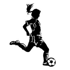 Your little soccer girl will love our soccer player wall decal. You can customize this soccer wall sticker with your...