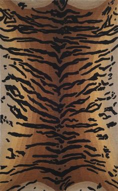 Trans Ocean Seville Tiger Brown Rug