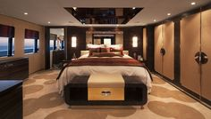Master Suite 150-foot @Cheo Gal Somsichack Yeoung-ju Lee Riviera MY/Mazu, a sistership to Marco Polo #LuxuryTravel #Bestofyachting #YachtCharters