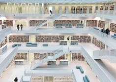 Stuttgart City Library in Stuttgart, Germany-Designed by Eun Young Yi, the new Stuttgart City Library opened in 2011 to mixed reviews from locals, library enthusiasts, and architects.   Dwell : 15 Super Unique Libraries Around the World http://www.dwell.com/post/slideshow/15-super-unique-libraries-around-world