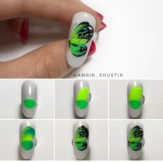 Heat Up Your Life with Some Stunning Summer Nail Art Butterfly Nail Designs, Butterfly Nail Art, Toe Nail Designs, Glue On Nails, Diy Nails, Daisy Nail Art, Bright Nail Art, Nail Art For Kids, Animal Nail Art