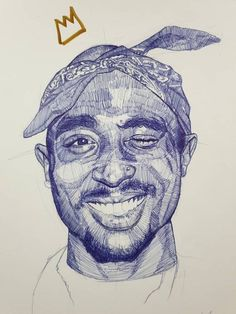 Tupac Original Ink Drawing 11 x 2pac, Tupac Shakur, Portrait Sketches, Art Sketches, Pop Art Drawing, Drawing Stuff, Arte Do Hip Hop, Tupac Art, Ballpoint Pen Art