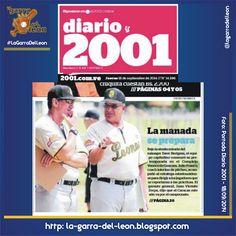 #LeonesEnPortadas Diario 2001 del 18 de Septiembre de 2014 #Leones #Caracas #LeonesDelCaracas #LVBP #Caraquistas #LaGarraDelLeon #Venezuela