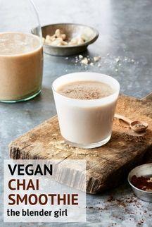 Vegan Chai Smoothie   Healthy Chai Smoothie   The Blender Girl #chaismoothie #veganchaismoothie #theblendergirl