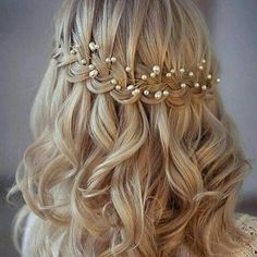 Pearl hair piece