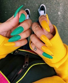 In look for some nail designs and ideas for your nails? Listed here is our listing of must-try coffin acrylic nails for fashionable women. Cute Acrylic Nails, Acrylic Nail Designs, Dope Nails, Nails On Fleek, Stiletto Nails, Coffin Nails, Gradient Nails, Rainbow Nails, Gorgeous Nails