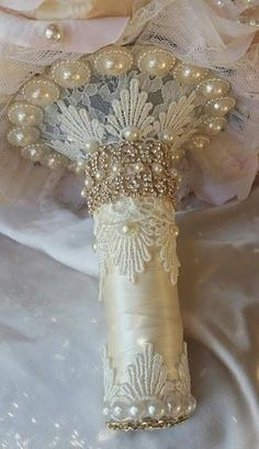 Rose Gold Bridal Brooch Bouquet, Blush Pink And Ivory Rose Gold And Gold Bridal Bouquet, Handmade Rose Gold Jeweled Bouquet, DEPOSIT ONLY