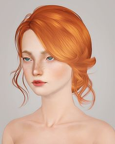 Newsea`s Cambrian hairstyle retextured by Liahx for Sims 3 - Sims Hairs - http://simshairs.com/newseas-cambrian-hairstyle-retextured-by-liahx/
