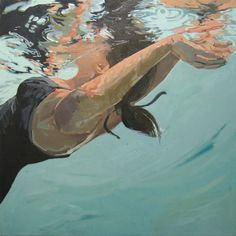 """No Diving, 40x30"""", Oil, 2010: Sold Samantha French"""