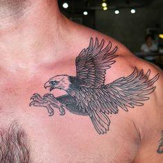 Eagle tattoo by Hakan #marmaris #marmarisink #tattoo #dövme - http://www.marmarisink.com/eagle-tattoo-by-hakan-marmaris-marmarisink-tattoo-dovme/