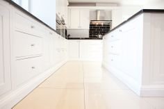 shaker style kitchen with skirting