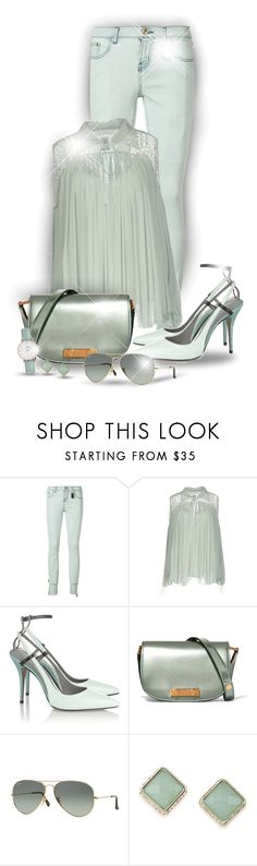 """""""Mint Color!"""" by asia-12 ❤ liked on Polyvore featuring Thomas Wylde, Chloé, Alexander Wang, Marni, Ray-Ban, ABS by Allen Schwartz and CLUSE"""