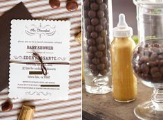 Au Chocolat baby shower theme, could be any party, good idea!