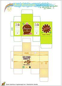 Winkeldoosjes, free download / Kit de marchande Bio pour enfants