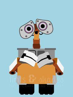 Wall-E 8x10 Minimalist Poster