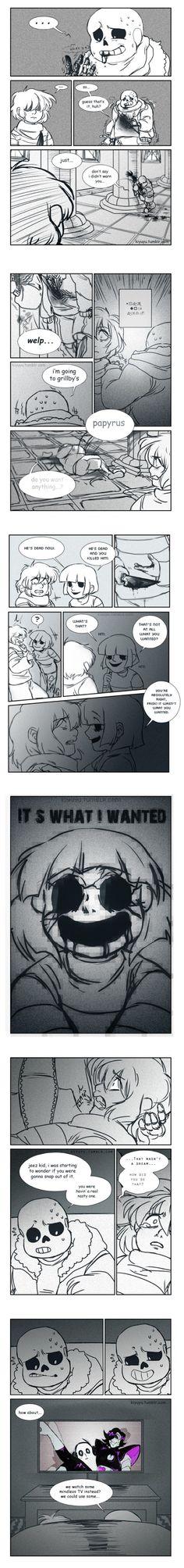 Sans, Frisk, and Chara #comic #blood genocide