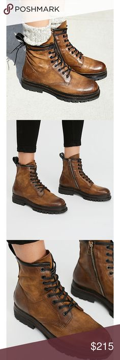 Free People A.S.98 Johnnies Lace up boots 36/6 Rugged luxe lace-up boots featured in a distressed oh-so soft leather. Side zip closure for an easy on/off Pull tab in back. Treaded rubber sole. Brand new with box. Size 36. These are narrow best fit a size 6. Brand A.S.98 A.S.98 creates inspired, dynamic bags and footwear, handmade with a focus on details and craftsmanship. This is a collection for the confident and authentic, the lovers and dreamers, the woman creating her own paths and…