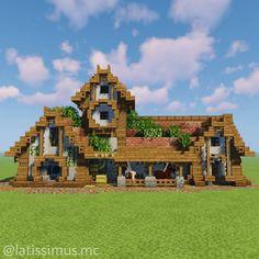 Minecraft Bauwerke, Casa Medieval Minecraft, Construction Minecraft, Cute Minecraft Houses, Amazing Minecraft, Minecraft House Designs, Minecraft Survival, Minecraft Blueprints, Minecraft Creations