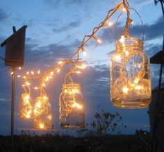 "I LOVE MASON JAR LIGHTS  .... It's so Southern, and beautiful. Something about a Mason Jar says ""downhome"" to me. Especially with my sweety, he IS home to me...in every way. <3  LOVE these <3"