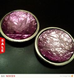 "LaborDaySale PAIR Large PURPLE crystal stone gauges plugs pair 9/16"" - 14mm 5/8"" - 16mm 11/16"" - 18mm 3/4"" - 19mm 7/8"" - 22mm"
