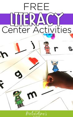 8 FREE and Fun Activities for Literacy Centers - Mrs. Richardson's Class