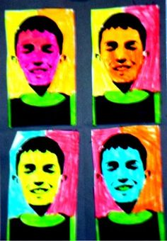 Andy Warhol Portraits, grade 4
