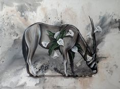 """""""Virtue"""" x x Ink, acrylic and wine on canvas 2019 The One You Feed, Animal Paintings, Poppies, Moose Art, My Arts, Joy, Pure Products, Sage, Painting Canvas"""