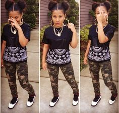 . Dope camo swag outfit ❤️Pinterest: Jayde S.