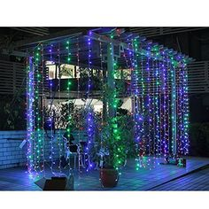 Waterproof 800PCS 8 Modes 8M x 3M LED Fairy String Lights Curtain Light For Christmas Xmas Wedding Halloween Party 83M Multi Color -- Check this awesome product by going to the link at the image.