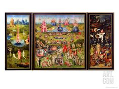 The Garden of Earthly Delights, circa 1500 Giclee Print by Hieronymus Bosch at Art.com