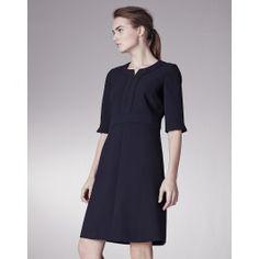 Top Stitch A Line Dress