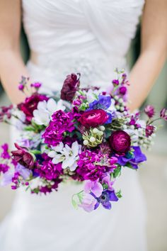 Lavender and fuchsia #bouquet | Photography: Sharon Nicole Photography - www.sharonnicolephotography.com  Read More: http://www.stylemepretty.com/2014/05/23/modern-villa-antonia-wedding/