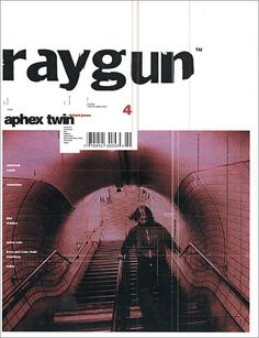 """Raygun is my favourite magazine of all time. I really admire David Carson for the design """"risks"""" he took and how in my opinion, he revolutionalized design. Poster Sport, Poster Cars, Poster Retro, Graphic Design Posters, Graphic Design Typography, Graphic Design Inspiration, 90s Design, Design Food, Book Design"""