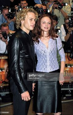 2000: Heather Graham & Heath Ledger Attend 'The Cell' Premiere In London's West End.