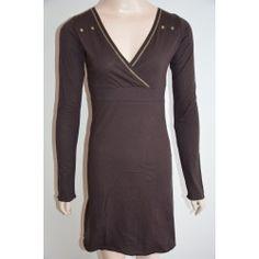 Rosebud dámské šaty tmavě hnědé XS