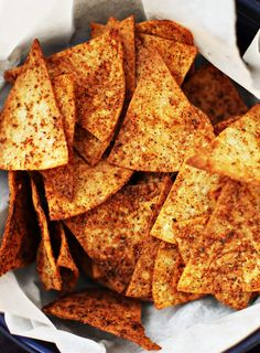 Spicy Baked Flaxseed Tortilla Chips Recipe | Savory Sweet Life - Easy Recipes from an Everyday Home Cook