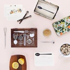 Our favourite Rifle Paper Co recipe tins wooden boxes and cards are in stock and ready to be gifted. by tinyfeast