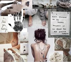 Moodboard - pure white and washed greys