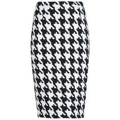 MANGO Houndstooth pencil skirt ($25) ❤ liked on Polyvore featuring skirts, bottoms, pencil skirts, saias, black, cotton pencil skirt, knee length pencil skirt, mango skirts, cotton skirts and houndstooth pencil skirt