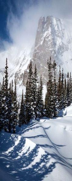 Notch top Mountain, Rocky Mountain National Park, Colorado   Snow landscape photography