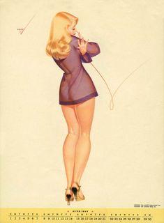 Curvy Pin-up by George Petty | Trendland: Fashion Blog