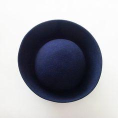 Vintage Navy Blue Breton Hat / Michael Howard Miss by ME2Designs