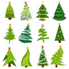 christmas tree vector images