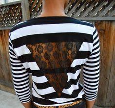 DIY: Lace insert shirt