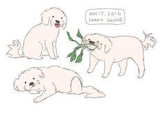 commission for for Cute Animal Drawings, Animal Sketches, Cool Drawings, Art Sketches, Art Manga, Cute Doodles, Art Sketchbook, Dog Art, Aesthetic Art