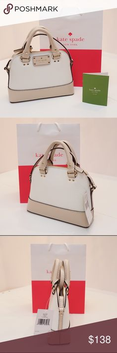Kate Spade Kate Spade Mini Rachelle Wellesly Style: Crossbody Bag Color: Cream/pebble Retail Price: $198 kate spade Bags Crossbody Bags
