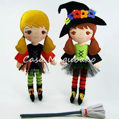 Halloween Witch Doll Digital Pattern Witch Doll by CasaMagubako
